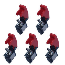 EE support  5 X 12V 20A Red Cover Rocker Toggle Switch SPST ON/OFF Auto Car Truck Boat 2Pin  XY01