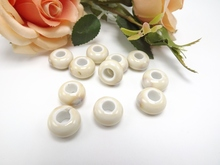 ceramic powder beads 6 mm hole big mail eye abacus beads beads Rice white high temperature ceramic diy TP3100