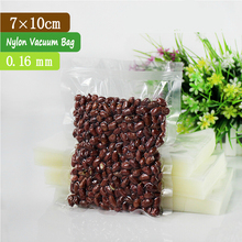 100 Pcs 7x10cm 0.16mm PA + PE 3-side Seal Clear Vacuum Bags For Food / Small Vacuum Pouch / Nylon Food Sachet