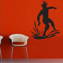 Wall Decal Surfing Wave Ocean Water Surfer Man Board bedroom(China)