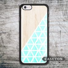Mint on Wood Geometric Case For iPhone 7 6 6s Plus 5 5s SE 5c 4 4s and For iPod 5 Lovely Ultra Phone Cover