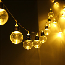10M 20 LED String Light Globe Patio Outdoor Clear Bulb Multicolor Chirstmas Wedding Party Decor Led Fairy Light DC31V EU Plug
