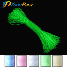 Glow in the dark Luminous Paracord 550 100FT Parachute Cord Lanyard Rope 7 Strands Cores cuerda escalada Outdoor Survival(China)