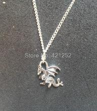 12pcs/lot  Game of Thrones Merlin Inspired Design 3D Charm Necklace  Dragon in silver