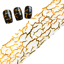 100cmx4cm Glitter Gold Nail Art Glue Transfer Foil Stickers Nail Tips Wraps Decorations Shining Manicure Tools LAXK40(China)
