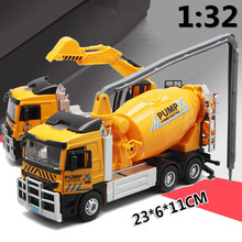 Large heavy truck,1:32 scale alloy Heavy goods vehicles excavator, Cement truck, mixer,Big cars,Engineering vehicles,wholesale