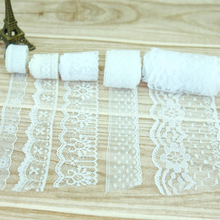 20Yard/Lot White High Quality Lace Ribbon Embroidered Net Lace Trim Fabric For Wedding Decoration By Best Price