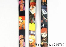 Mixed 10 Pcs Popular Cartoon Japanese Anime Naruto key chains Lanyard Mobile Phone Neck Straps S-13