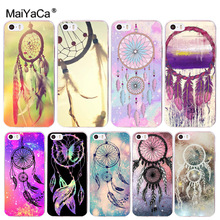 MaiYaCa Indian Style Dream Catcher Net soft tpu phone case cover for iPhone 8 7 6 6S Plus X 10 5 5S SE 5C 4 4S Coque Shell(China)