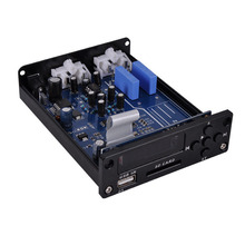 HiFi Lossless Music Player Mini Pre-Amplifier Stereo Preamp USB SD Audio Decoder Preamplifier D6(China)