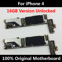 Low Price Sell 100% Original Official Motherboard For iPhone 4 Good Working Mainboard 16GB With Full Chips IOS Logic Board(China)