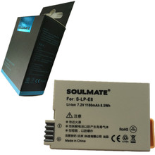 SOULMATE LP-E8 LP E8 lithium batteries pack LPE8 For Canon EOS 550D 600D 650D 700D Kiss X4 X5 X6i X7i Rebel T2i T3i T4i T5i(China)