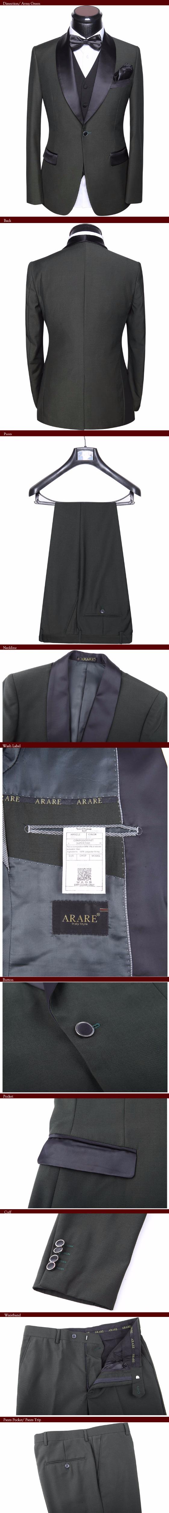 HTB18VBwaQfb uJkSnaVq6xFmVXa2 - Men Wedding Dress Suits 2017 Latest 5 piece Groom Wedding Suit Set Slim Fit Round Collar Prom Party Black-tie Dress