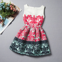 Hot Seller Children Frocks Printed Flower and Butterfly Baby Girl Casual Dress A-line Summer Dress