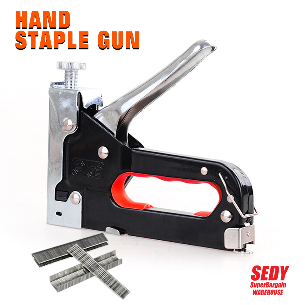 Multifunction Nail Gun Rapid Upholstery Hand Staple Nail Tacker Stapler Gun Set<br><br>Aliexpress