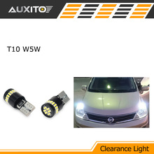 Buy 2X T10 LED W5W Car LED Auto Lamp 12V clearance parking Light bulbs Nissan qashqai tiida new teana SYLPHY note almera juke for $5.25 in AliExpress store