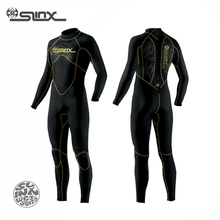 SLINX DISCOVER 1106 5mm Neoprene Men Fleece Lining Warm Wetsuit Swimming Snorkeling Triathlon Spearfishing Scuba Diving Suit(China)