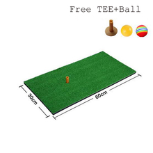 Factory Directly Mini Golf Hitting Mat with Free Golf Tee and Golf Ball, 60x30 Small Size Indoor and Outdoor Protable Golf Mat(China)