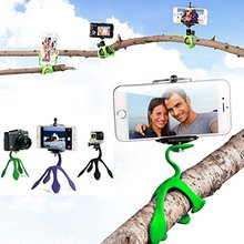 New Style Mini Tripod Mount Portable Flexible Stand Holder Multi Function Phone Camera Stand Gecko Spider Stent For All Phones(China)