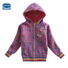 girls jacket children winter outwear girls coats embroidery cartoon pig spring/autumn long sleeve jacket for girls clothes F4356