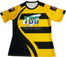 Two Colors Men's Sublimation Rugby Jersey with Cool Design
