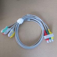 ecg cable 3 leads clip type hp ecg cable ecg leadwire(China)