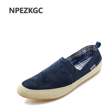 NPEZKGC Summer Flats Men Shoes Men Espadrilles Flats Shoes Men Canvas Shoes Loafers Slip Casual shoes