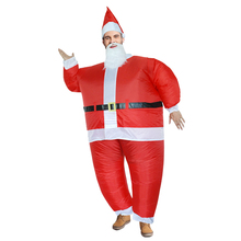 2017 Hot Christmas Santa Claus Inflatable Costume for Women Men with Wig Beard Hat Fan