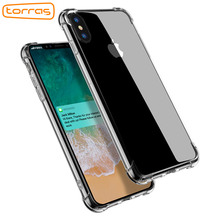 TORRAS TPU Crystal Clear Phone Case for iPhone X Armor Case Phone Back Cover Bumper Absorption Mobile Phone Cover for iPhone X(China)
