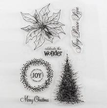 DECORA 1PCS Christmas Design Transparent Stamp DIY Scrapbooking/Card Making/Christmas Decoration Supplies