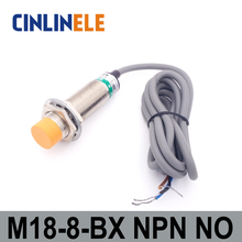 M18 LJ18A3-8-Z/BX 8mm sensing DC NPN NO prism shape inductive Screen shield type proximity switch LJ18A3 series proximity sensor