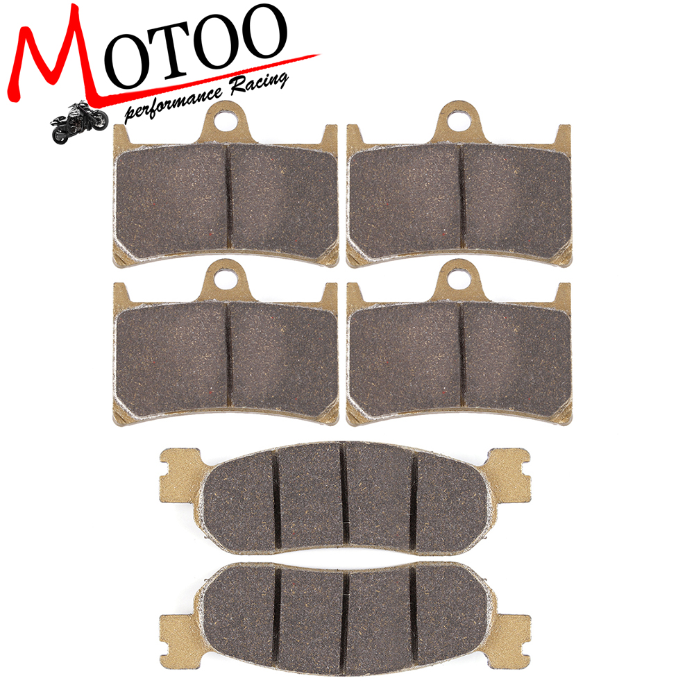 Motoo - Motorcycle Front and Rear Brake Pads For YAMAHA R6 1992-2002 R1 2002 2003<br>