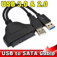 "5Gbps USB 3.0 + 2.0 to 22Pin SATA 2.5"" HDD Adapter Data Power Cable High Speed USB3.0 to 22 Pin SATA Hard Disk Drive"
