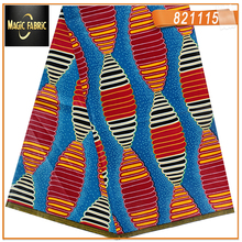 Hot sale Ankara African wax print fabric veritable real super wax fabric for Nigerian woman dresses 6 yards   821115-654