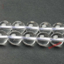 "Factory price Natural Stone Smooth Clear Quartz Loose Beads 16"" Strand 4 6 8 10 12 MM Pick Size For Jewelry Making"