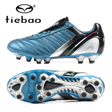 TIEBAO Professional Chuteira Futebol AG Soles Soccer Cleats Unisex Football Boots Size 39-44 Men Sneakers Futebol Shoes(China)