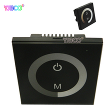 Wall Type Touch Panel Controller Switch Ring For Single Color 3528 5050 LED Strip panel lamp,DC12V-24V 4A/CH(China)