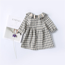 Kids Baby Girl Dress Casual Plaid Christmas Dress New Autumn Winter Infant Girls Clothes Vestidos Children Tutu Princes Dress