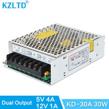 Dual Voltage Power Supply 12V 5V 30W 110V / 220V Input AC-DC Switch Mode Power Supply for LED Light High Efficiency