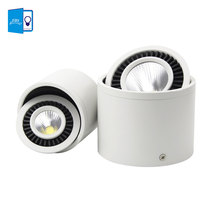 Dimmable Led COB Ceiling Spot light 5W 7W 9W 15W 360 degree rotating Surface mounted LED Downlight 110/220V Warm White/ white