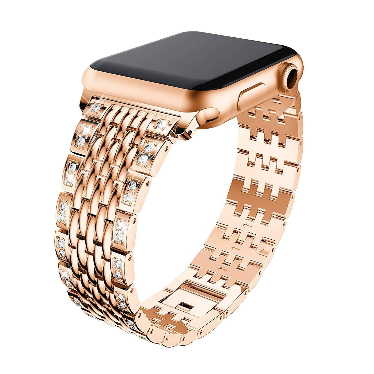 iWatch bands rose gold Diamond