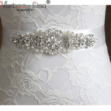 Hot selling bridal belt wedding accessories bridal belts with crystals pears beaded 2016 cintura sposa wedding belts and sashes(China)