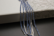 Clear Crystal  intensive  Glass rhinestone DIY Silver Base Density Trim Strass Light blue Crystal  Chains    accessories