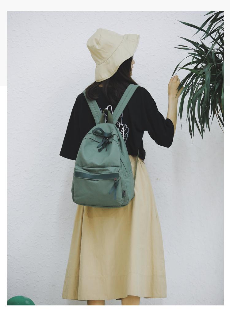 Menghuo High Quality Women Canvas Backpack Teenage Girls Leisure Backpack Bag Vintage Stylish Female School Bag Bookbag Mochilas (4)