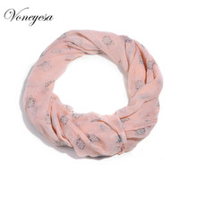 Promotion Scarf Fashion Band Print Scarf Women Loop Scarf Spring-summer Scarves For Female Snood Women Shawl FreeshippingRO1297(China)