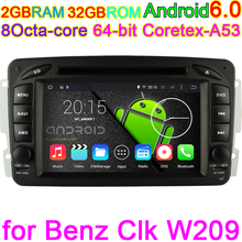 Car Computer For Mercedes Benz Vaneo Viano Vito W203 SLK W168 CLC209 W209 W463 w168 with Android 6.0 Octa Core DVD PC RADIO GPS(China)