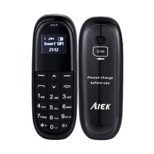New Arrival Aiek kk1 Magic Voice Bluetooth Mini Mobile Phones Bluetooth Dialer Universal Wireless Headphone Cell Phone Dialer(China)