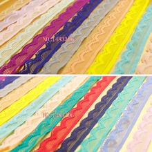 10Yards/lot 17 color 14-16mm Elastic lace garment accessoriesCheap Bilateral Lace Fabric Trim Ribbon wedding lace 1#-17#