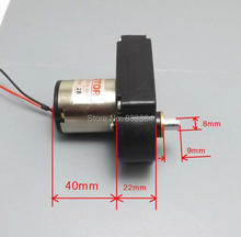 Low price 5pcs 7 font DC hand generator DC gear motor 6V-24V 10W 500mA 32-130 RPM high quality
