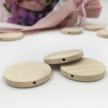 30pcs 30mm Natural Flat Wood Round beads unfinished DIY wood chips Circles Wood Discs Wooden Tags Labels